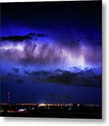Cloud To Cloud Lightning Boulder County Colorado Metal Print