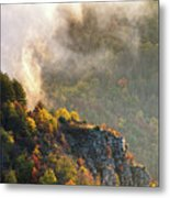 Clouds Above The Crest Of The Mountain Metal Print