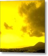 Clouds At Sunset Over Basseterre Metal Print