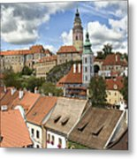 Clouds Over Cesky Krumlov Metal Print