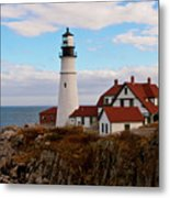 Clouds Over Portland Head Lighthouse 3 Metal Print