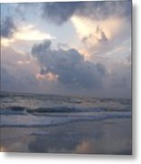 Cloudy Day In Naples Metal Print