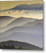 Cloudy Layers On The Blue Ridge Parkway - Nc Sunrise Scene Metal Print by Rob Travis