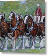 Clydesdale Hitch Metal Print by Anda Kett