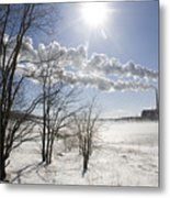 Coal Fired Power Plant In Winter Metal Print