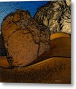 Coast.dunes.rocks Metal Print