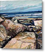Coast's Edge Metal Print by Richard Knox