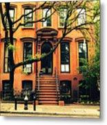 Cobble Hill Brownstones - Brooklyn - New York City Metal Print by Vivienne Gucwa