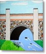 Cobblestone Bridge Metal Print