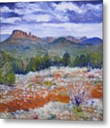 Cockscomb Butte West Sedona Arizona Usa 2002  Metal Print