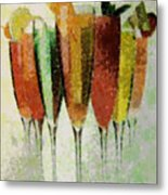 Cocktail Impression Metal Print