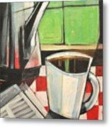 Coffee And Morning News Metal Print