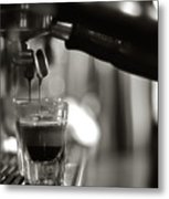 Coffee In Glass Metal Print by JRJ-Photo