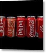 Coke Cans Metal Print