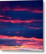 Cold Front Sunset One Metal Print