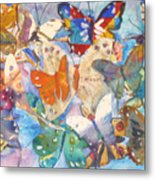 Collage Of Butterflies Metal Print