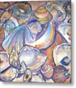 Collage Of Shells Metal Print