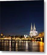 Cologne At Night Metal Print