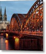 Cologne Cathedral At Dusk Metal Print