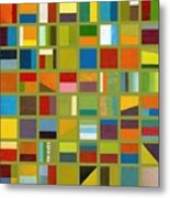 Color Study Collage 64 Metal Print