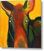 Colorful Cow Metal Print by Amy Reisland-Speer