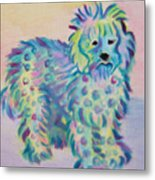 Colorful Dog Metal Print