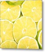 Colorful Limes Metal Print
