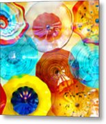 Colorful Plates Metal Print