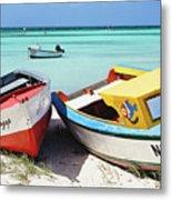 Colorful Traditional Fishing Boats Metal Print