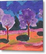 Colorfull Trees Metal Print
