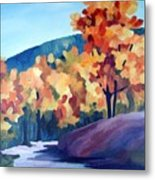 Colourful Autumn Metal Print by Carola Ann-Margret Forsberg
