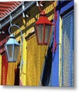 Colourful Lamps La Boca Buenos Aires Metal Print