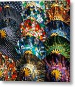 Colourful Umbrellas Bangkok Thailand Metal Print