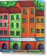Colours Of Liguria Metal Print