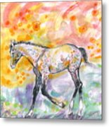 Colt In The Field Metal Print