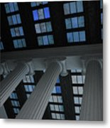 Column Stain Blue Metal Print