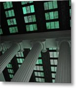 Column Stain Teal Metal Print