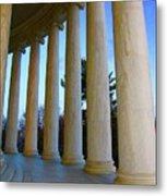 Columns At Jefferson Metal Print
