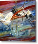 Coming In To Roost Metal Print