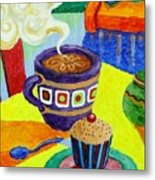 Complementary Coffee 1 Metal Print by Paul Hilario