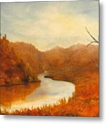 Complementry River Metal Print