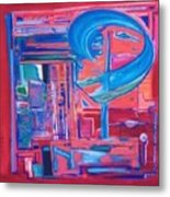 Composicion Azul Metal Print