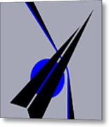Composition Black Arrow Metal Print