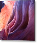 Composition In Purple And Orange Metal Print