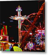 Coney Island Opening Day In Brooklyn New York Metal Print