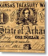 Confederate Banknote Metal Print