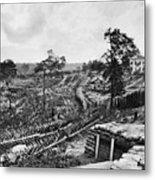 Confederate Fort Metal Print