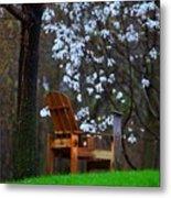 Contemplation Chair Metal Print