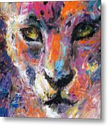 contemporary Wildlife painting cheetah leopard  Metal Print