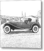 Convertible Antique Car Metal Print